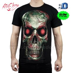 Tričko 3D Terminator Face Rock Chang 3D20 T-Shirt
