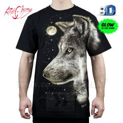 Tričko HD Watching Wolf Rock Chang WRM30 T-Shirt