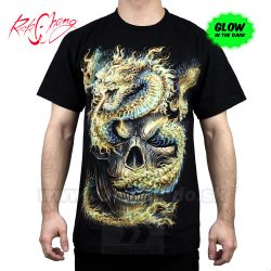 Tričko Fire Skull Dragon Rock Chang GR595 Tshirt