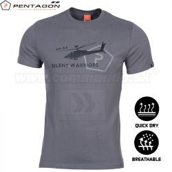 Pentagon Tričko Silent Warriors Gray
