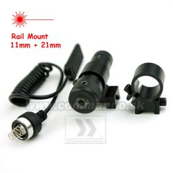 Laser Red Center Point Mount Rail 11mm + 21mm
