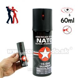 Obranný slzný sprej NATO CS GAS Silliarde Kaser Black 60ml