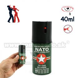 Obranný slzný sprej NATO CS GAS Silliarde Kaser 40ml Green