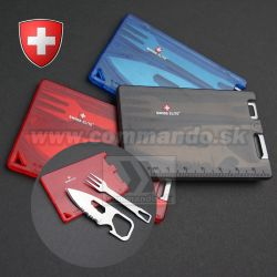 Swiss Elite Card Príbor v karte Stainless Steel