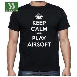TRIČKO KEEP CALM AND PLAY AIRSOFT
