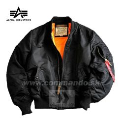 Alpha Industries Bunda MA-1 Flight Jacket  Black