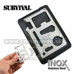Karta na prežitie INOX 11v1 Survival Card Stainless Steel