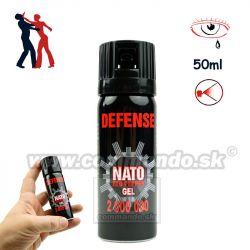 Obranný slzný sprej NATO Defence Pepper Gel Kaser 50ml
