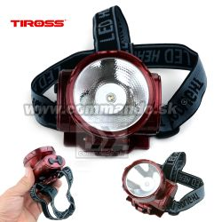 TIROSS Čelovka 1LED TS-776-1 Akku Head Lamp