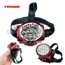 TIROSS Čelovka 13LED TS-776 Akku Head Lamp