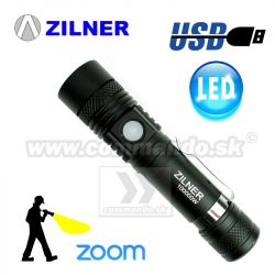Taktické LED sviedidlo ZILNER USB Tactical Pocket Zoom 1017