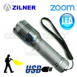 Taktické LED sviedidlo ZILNER USB ShadowTactical Pocket Zoom 1018