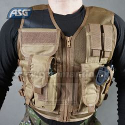 Taktická vesta Strike Systems Tactical Recon Tan