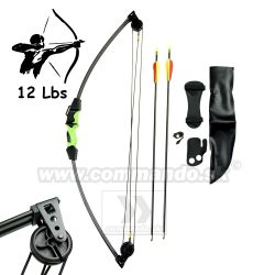Kladkový Luk Bow Night Hunter II 86 cm 12 Lbs Set