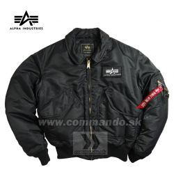 Alpha Industries Bunda CWU 45/P Flight Jacket  Black
