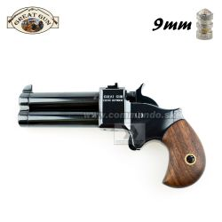 "Perkusná pištoľ Derringer 9mm 2,5"" Black Great Gun"