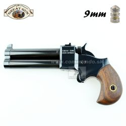 "Perkusná pištoľ Derringer 9mm 3"" Black Great Gun"