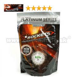 Rockets Platinum Series BB Series 0,23g 4400ks BB guličky White 6mm