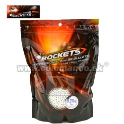 Rockets Profesional 0,25g 1kg 4000ks BB guličky White 6mm