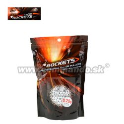 Rockets Profesional 0,20g 0,5kg 2500ks BB guličky White 6mm