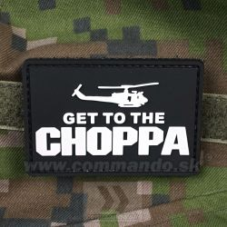 Get to The CHOPPA Black - 3D nášivka PVC