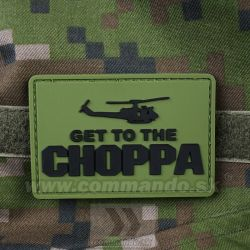 Get to The CHOPPA Green - 3D nášivka PVC