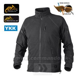 Helikon Tex Alpha Tactical Bunda Black Grid Fleece
