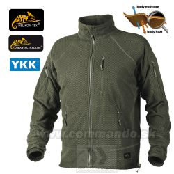Helikon Tex Alpha Tactical Bunda Olive Green Grid Fleece