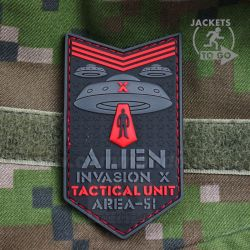 Alien Invasion X Area-51 Red 3D nášivka PVC