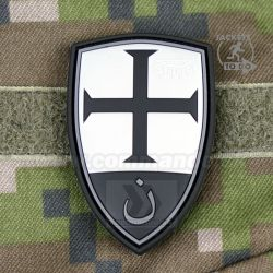 Crusader Shield - Blackops 3D nášivka PVC