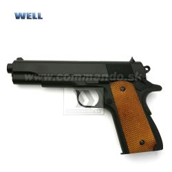 Airsoft Pistol Well M1911A1 Full Metal ASG 6mm