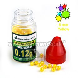 6mm 0,12 g BBs Airsoft Paint Yellow Žlté 200ks