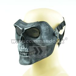 Airsoft Maska Skull MAS-31 Style Black Silver Tactical Ultimate