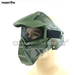 Airsoft Mask Phantom Green zelená Guardian V1