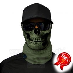 Tactical OD Green Skull Face Shield Multifunkčná šatka Bufka SA Fishing