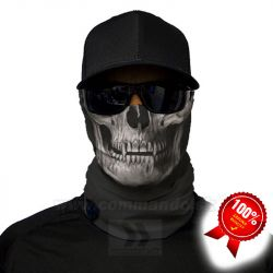 Tactical Black Skull Face Shield Multifunkčná šatka Bufka SA Fishing