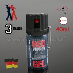 Obranný slzný sprej Graphite Red Pepper Gel Kaser 40ml Stream