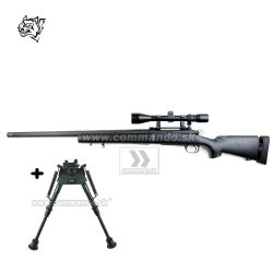 Airsoft Sniper Rifle Snow Wolf SW-04 Black Scope 3-9x40 6mm