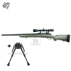Airsoft Sniper Rifle Snow Wolf SW-04 Olive Scope 3-9x40 6mm