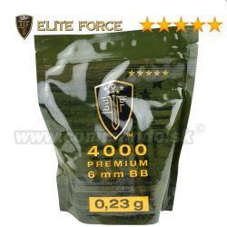 Airsoft Elite Force Premium BB guličky 4000ks 0,23g White