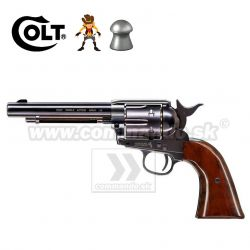 Airgun Revolver Colt SAA .45 Peacemaker Diabolo Blued CO2 4,5mm