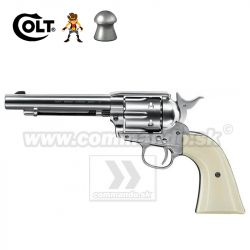 Airgun Revolver Colt SAA .45 Peacemaker Diabolo Nickel CO2 4,5mm