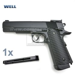 Airsoft Pistol Well 1911 G292B CO2 GNB 6mm