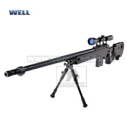 Airsoft Sniper Well L96 MB4403D Black Set ASG 6mm