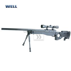 Airsoft Sniper Well L96 MB08 Black Set ASG 6mm