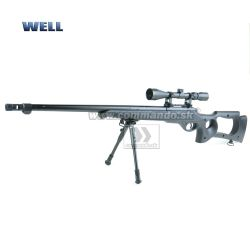 Airsoft Sniper Well MB10D Black Set ASG 6mm