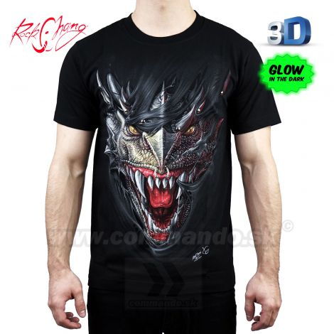Tričko 3D King Dragon Rock Chang 3D115 T-Shirt