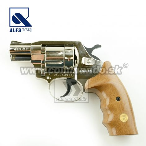 Alfa Proj 620 Nickel Wood Grip Flobert 6mm