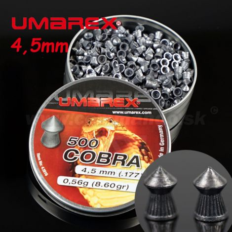 Diabolky Umarex Cobra 500ks 4,5mm Pointed pellets Ribbed .177